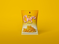 Free Chips Bag Mockup PSD Vol: 1