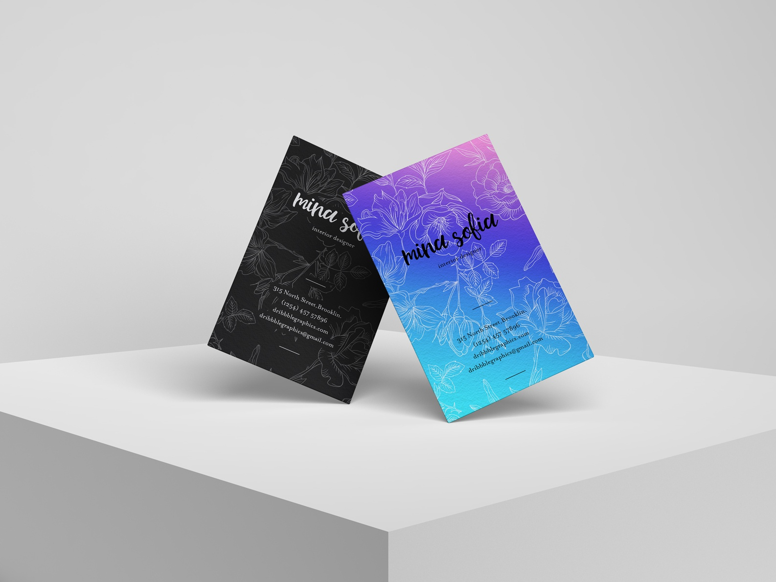 Free Brand Psd Stylish Business Card Mockup By Jessica
