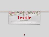 Free Psd Textile Banner Mockup Design