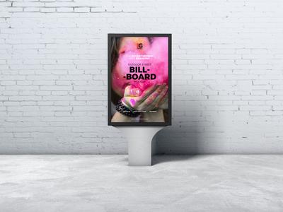 Free Outdoor Street Advertising Billboard Mockup