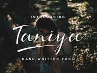 Free Taniya Handwritten Font Demo