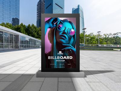 Free Outdoor Office Billboard Mockup For Advertisement