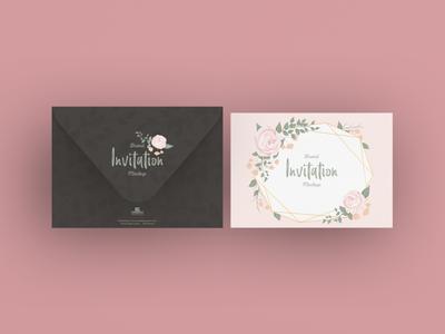 Free Brand Invitation Card Mockup