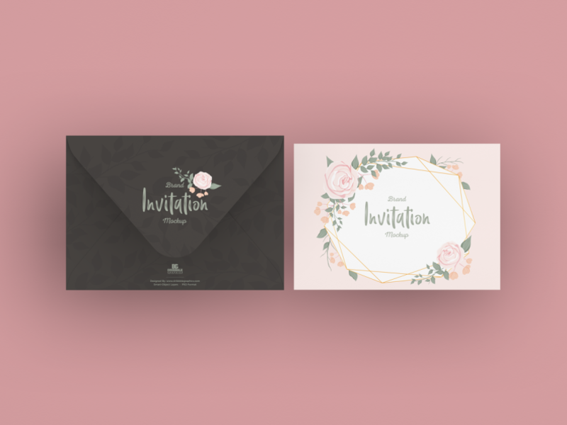 Free Brand Invitation Card Mockup By Jessica Elle On Dribbble