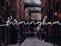 Birmingham Signature Script Font Free Demo