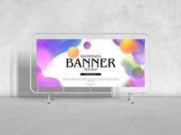 Free Advertising Banner Mockup For Branding