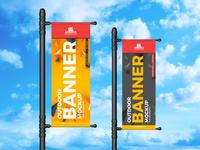 Free Outdoor Banner Mockup For Branding