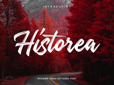 Free Historea Modern Hand Lettered Font