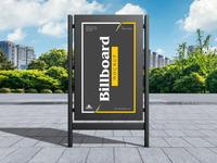Free Modern City Advertising Billboard Mockup