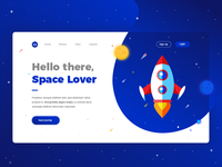 Space Lover landing page