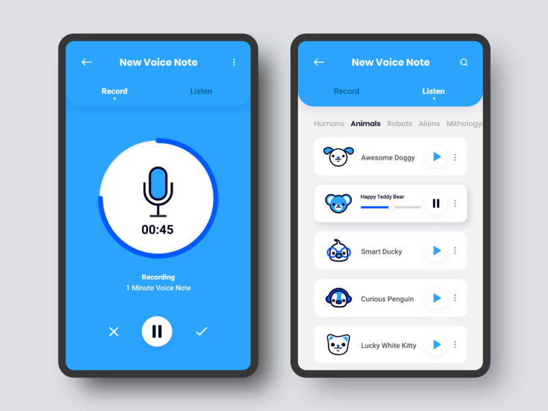 Voice Changer App by Giyonces González on Dribbble