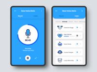 Voice Changer App design app ux ui design mobile app cards digital icons voice enterprise app concept record interface entertainment uidesign