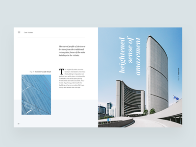 Architecture Blog Article Layout editorial visual hierarchy design clean white minimal web design article architect architecture layout grid typography minimalist light ui tags  website