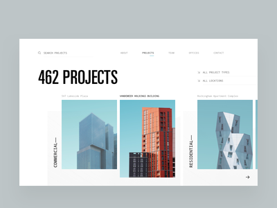 Architecture Firm Portfolio Projects editorial visual hierarchy design clean white minimal web design article architect architecture layout grid typography minimalist light ui website