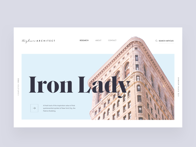 Architecture blog article hero layout editorial visual hierarchy design clean white minimal web design article architect architecture layout grid typography minimalist light ui website