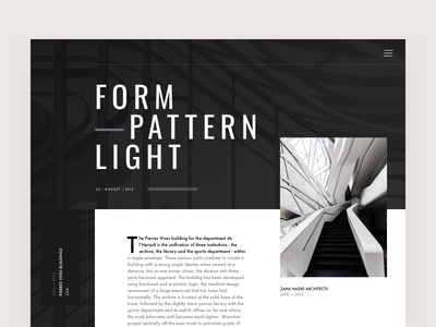 Architecture Blog Article Hero Layout blog editorial visual hierarchy design clean white minimal web design article architect architecture layout grid typography minimalist light ui website