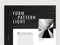 Architecture Blog Article Hero Layout