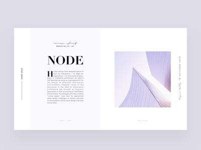 Architecture article layout editorial visual hierarchy design clean white minimal web design article architect architecture layout grid typography minimalist light ui website