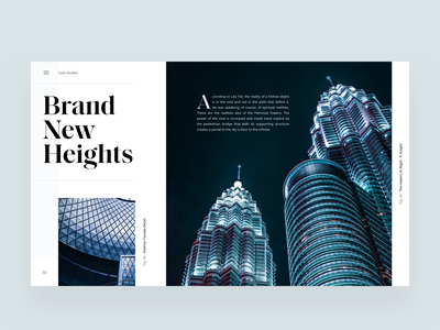 Architecture Blog Article Layout editorial visual hierarchy design clean white minimal web design article architect architecture layout grid typography minimalist light ui website