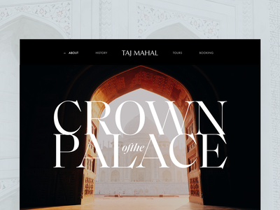 Taj Mahal Hero v2 tajmahal editorial visual hierarchy design clean white minimal web design article architect architecture layout grid typography minimalist light ui website