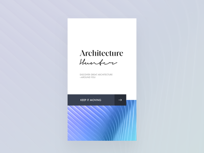 Architecture Hunter Mobile App app mobile editorial visual hierarchy design clean white minimal web design article architect architecture layout grid typography minimalist light ui website