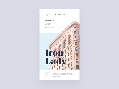Iron Lady Article - Mobile Hero mobile editorial visual hierarchy design clean white minimal web design article architect architecture layout grid typography minimalist light ui website