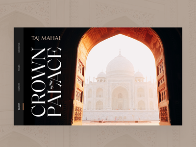Taj Mahal hero dark tajmahal editorial visual hierarchy design clean white minimal web design article architect architecture layout grid typography minimalist light ui website