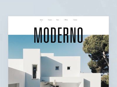 Architecture Firm Moderno Hero editorial visual hierarchy design clean white minimal web design article architect architecture layout grid typography minimalist light ui website