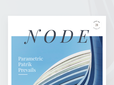 Node Architecture Magazine Cover node magazine editorial visual hierarchy design clean white minimal web design article architect architecture layout grid typography minimalist light ui website