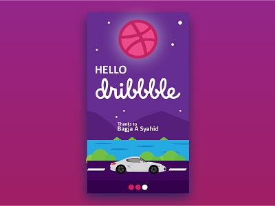 Hello Dribbble Opraywinter opraywinter screen splash ios app ui debut shot first dribbble hello