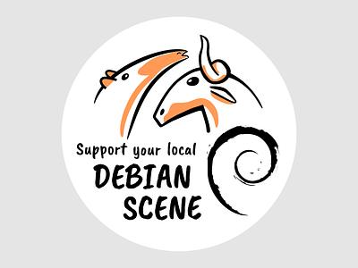 Support Debian mozilla tor crypto opensource foss ubuntu kde brazil gnu linux debian vector inkscape illustration