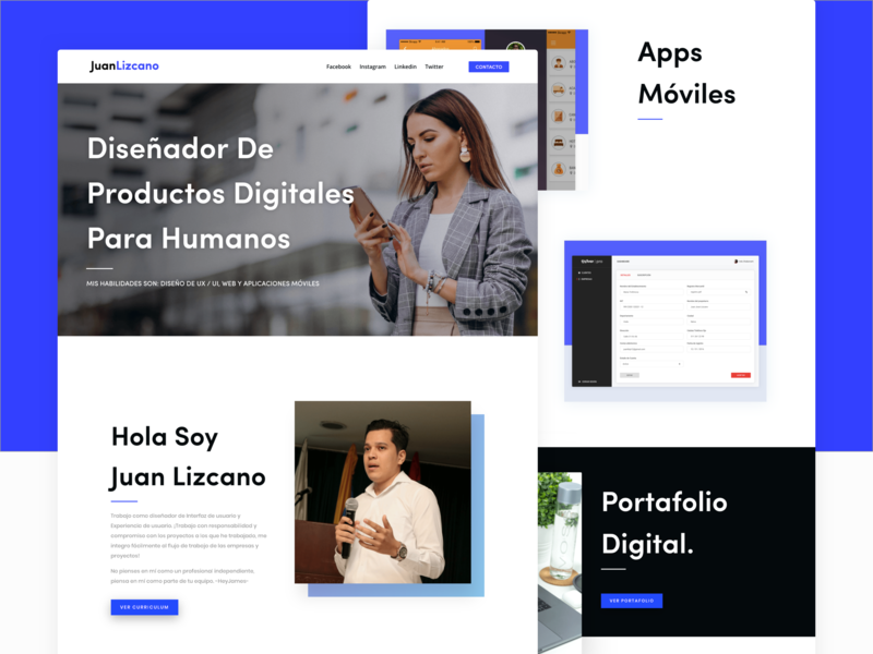 Personal Branding Website user interface uitrends inspiration porfolio uidesign webdesign