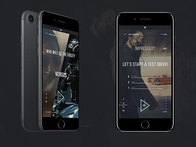 Z4 Concept sport ux ui promo interaction concept bmw car website