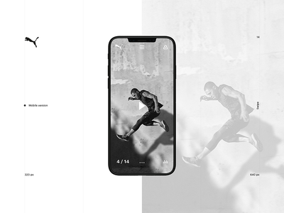 PUMA Store Concept webdesign ui interaction minimal web mobile promo store fashion puma