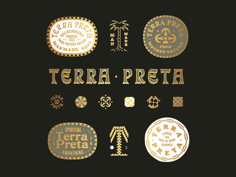 Terra Preta brand design brand logodesign badge mark stamp vintage label logo illustration identity design branding