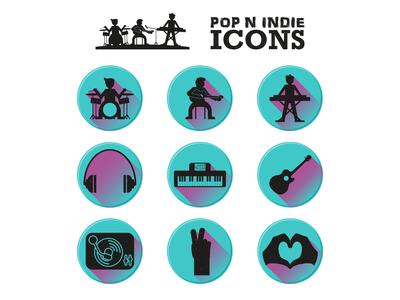 Pop Indie Icons
