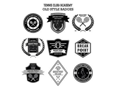 Tennis Club/Academy Retro Old Style Badge Logo