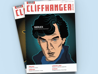 Magazine Cover Design + Sherlock Illustration