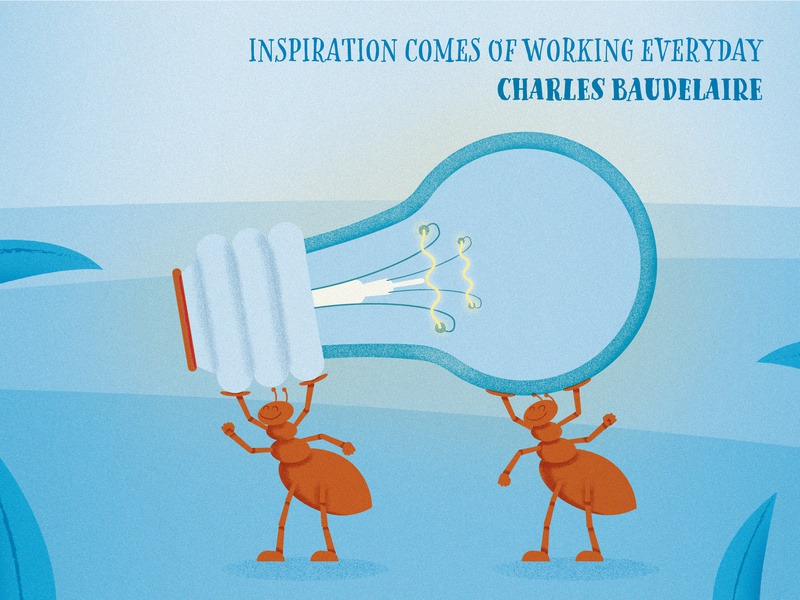 Illustrated Quotes: Charles Baudelaire inspiration motivational motivational quotes poster textured graphic deisgn flat design illustration vector adobe illustrator cc