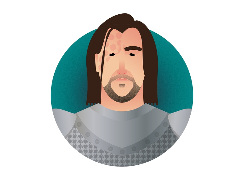 Winter is Here: Sandor Clegane (Game of Thrones Characters) sandor clegane the hound icon artwork icon a day icon juego de tronos winter is coming vector art game of thrones textured graphic deisgn portrait portrait challenge minimalism minimal art flat design illustration vector adobe illustrator cc