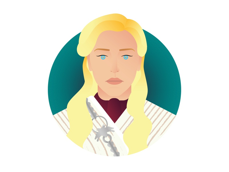 Daenerys Targarien - Winter Is Here gots8 got mother of dragons daenerys targaryen juegodetronos game of thrones design minimalism icon a day icon poster graphic deisgn flat design illustration vector adobe illustrator cc