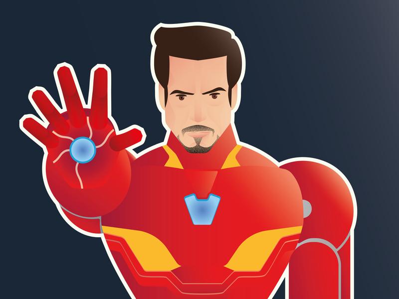 Tony Stark  / Iron Man: Homage to Marvel avengersendgame endame avengers ironman icon poster graphic deisgn illustration vector adobe illustrator cc