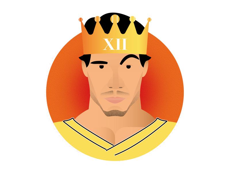 Rafa Nadal - The King of Clay tennis rg19 roland garros nadal rafa nadal icon a day icon design textured poster minimalism graphic deisgn flat design illustration vector adobe illustrator cc