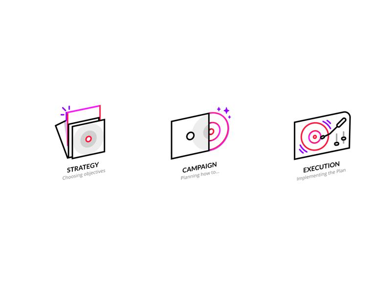 Icon Set #2 geek branding pop music dope icon set concept vector minimal flat ui illustration