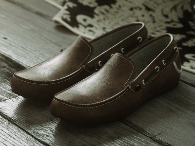 Loafer Shoes motion animation mono shoe interior still life rendering realistic c4d octane 3d artist