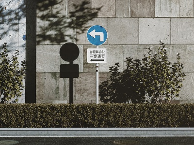 One Way photo realistic one way street sign mono interior still life rendering realistic octane c4d 3d artist