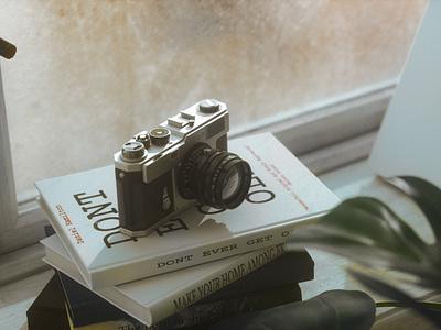 Nikon_1 windows camera nikon design interior still life rendering realistic octane c4d 3d artist