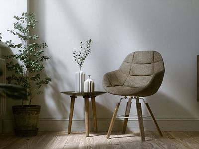 corner corner photorealistic chair darvish wei illustration lighting interior still life rendering realistic octane c4d 3d artist