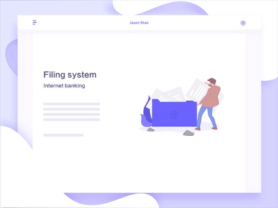 Filing system financial icon record illustration