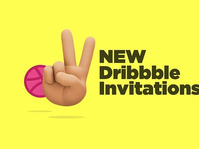 2 Dribbble Invitations✌🏼 design ui ramadan bahrain uae brand logos dribbble invites dribbble ball dribbble invite giveaway dribbble invite illustration dubai